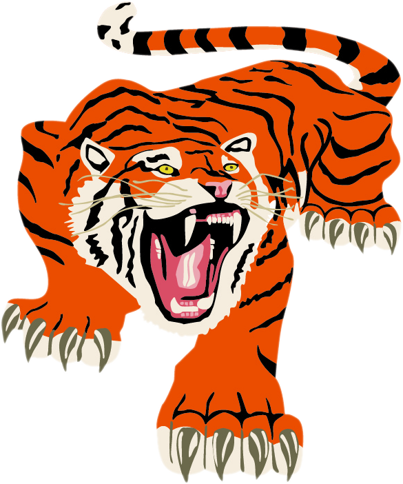 Tiger coming out of basketball clipart clipart transparent Delano - Team Home Delano Tigers Sports clipart transparent