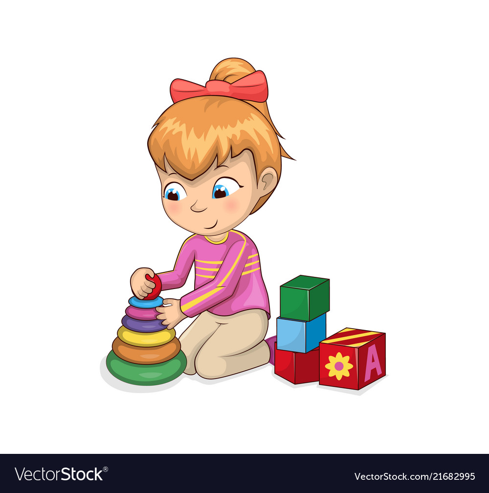 Girl toys clipart png transparent stock Little girl playing with toys png transparent stock