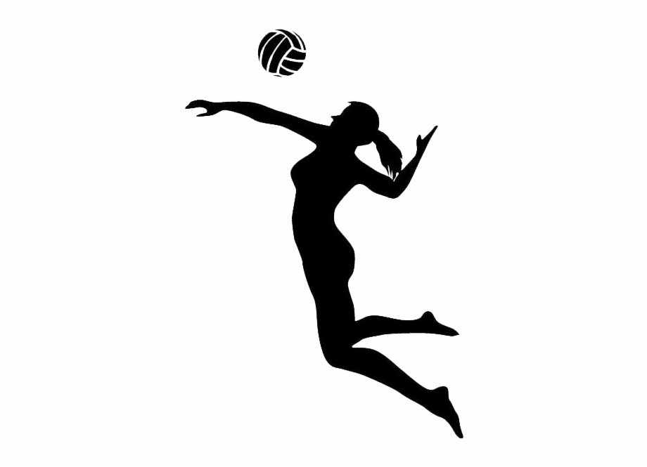Girl volleyball player clipart clip free stock Girl Sil - Girl Playing Volleyball Silhouette Free PNG Images ... clip free stock