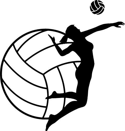 Girl volleyball player clipart svg library Pin by Jennifer Stine on Teen Girl Bedroom | Volleyball, Raster to ... svg library