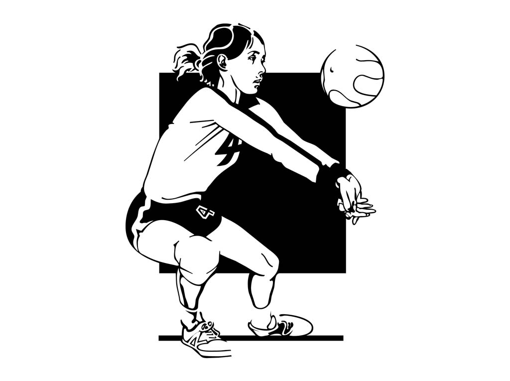Girl volleyball player clipart freeuse library Volleyball Girl Vector Art & Graphics | freevector.com freeuse library