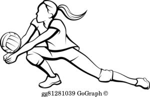 Girl volleyball player clipart jpg library library Volleyball Player Clip Art - Royalty Free - GoGraph jpg library library
