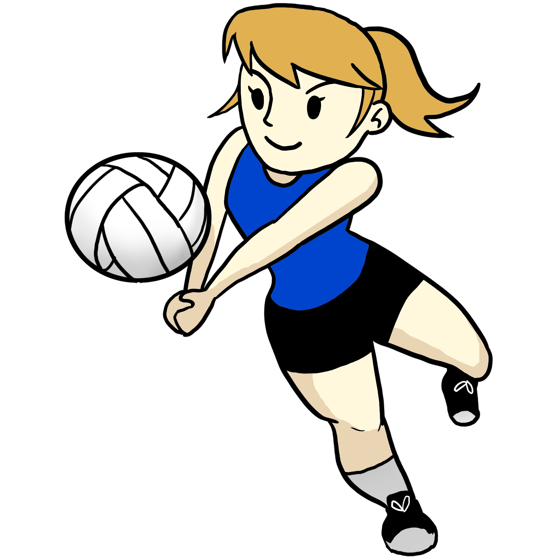 Girl volleyball player clipart graphic royalty free stock Cartoon Volleyball Cliparts - Free Clipart graphic royalty free stock