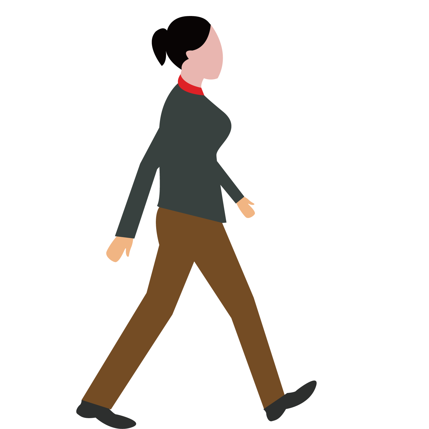Woman walking dog clipart picture black and white stock Walking - Walking Woman 1500*1500 transprent Png Free Download ... picture black and white stock