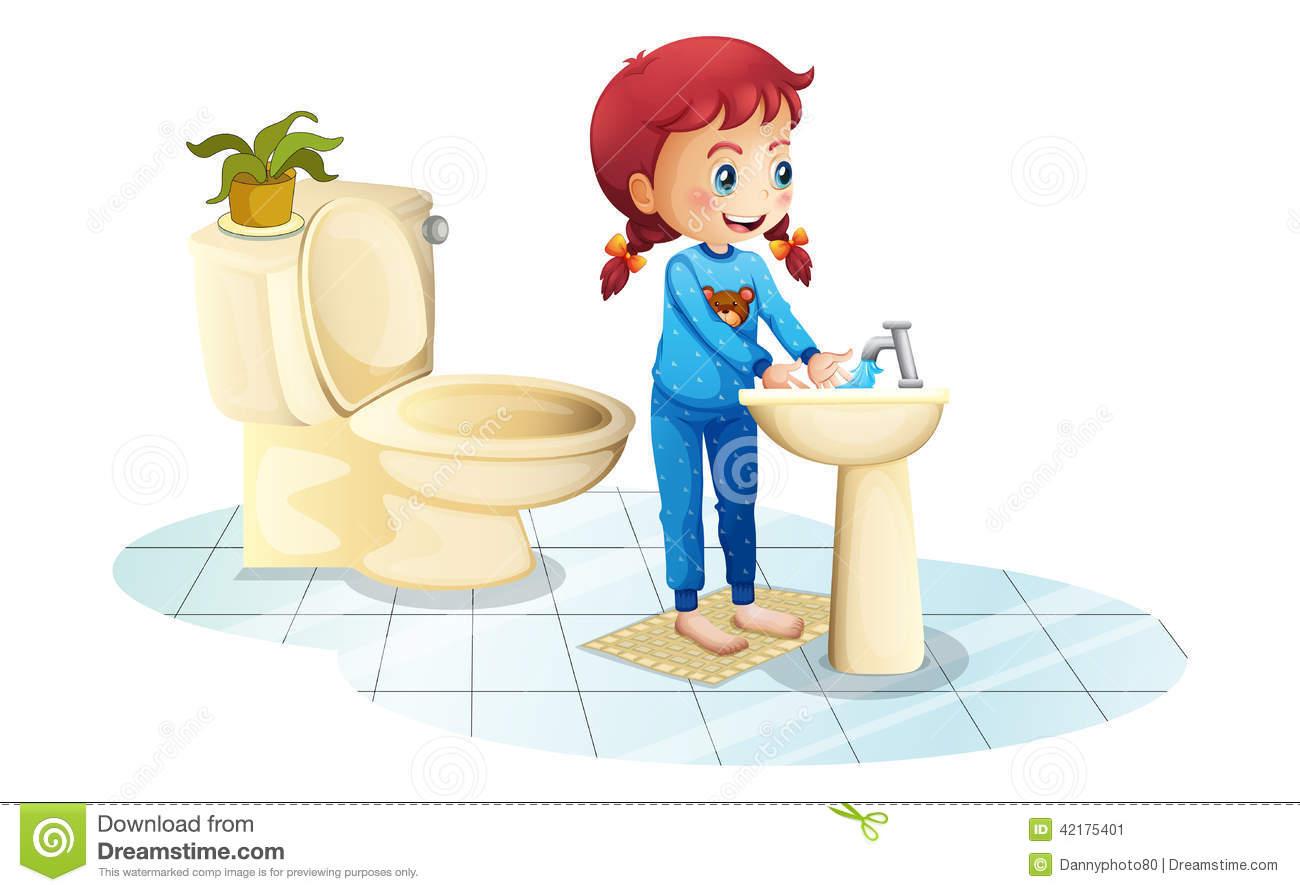 Girl washing hands clipart jpg transparent download Girl washing hands clipart - ClipartFest jpg transparent download