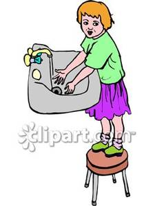 Girl washing hands clipart banner black and white stock Girl washing hands clipart - ClipartFest banner black and white stock