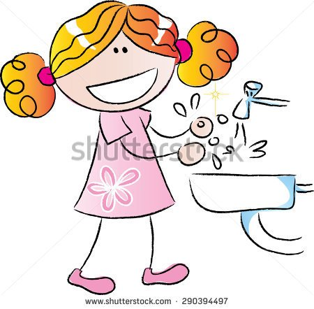 Girl washing hands clipart clipart transparent download Washing hand in morning clipart - ClipartFest clipart transparent download