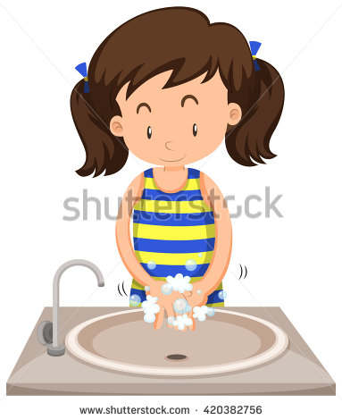 Girl washing hands clipart svg transparent Washing Hands With Soap Stock Images, Royalty-Free Images ... svg transparent