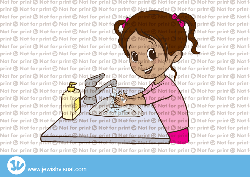 Girl washing hands clipart clipart freeuse library Girl washing hands - ילדה שוטפת ידיים - JVisual clipart freeuse library