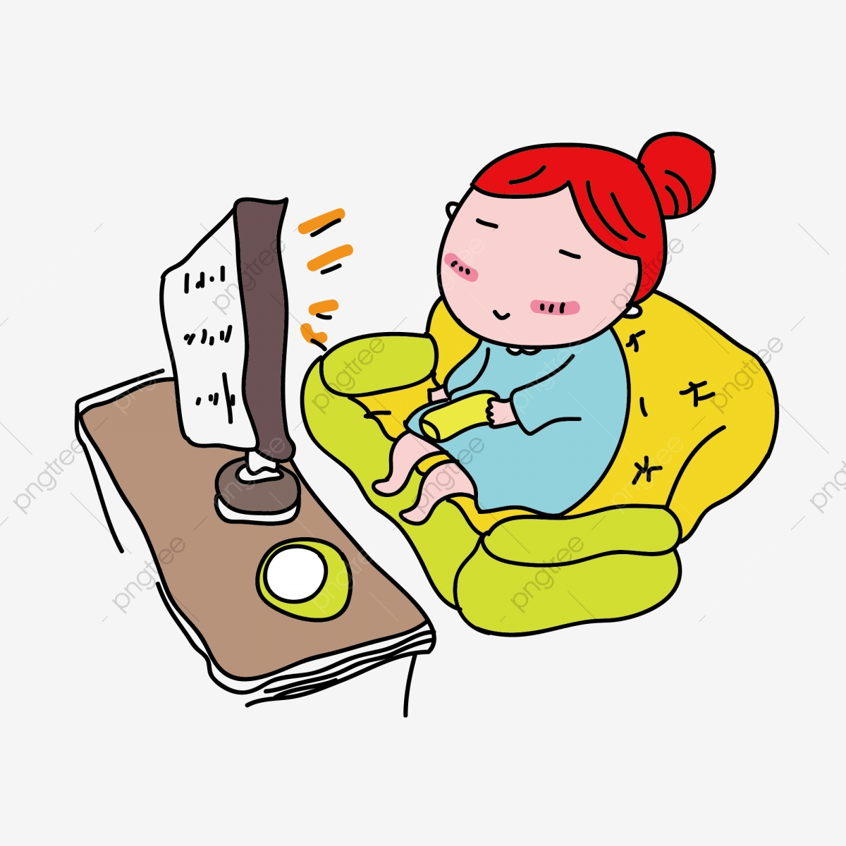 Girl watching tv clipart svg free download Cartoon Girl Watching Tv Is A Commercial Element, Watch Tv, Little ... svg free download