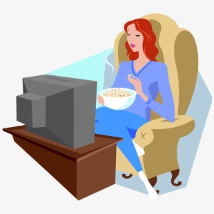 Girl watching tv clipart vector freeuse download Girl Watching Tv Clipart - Girl Watching Tv Png #430688 - Free ... vector freeuse download
