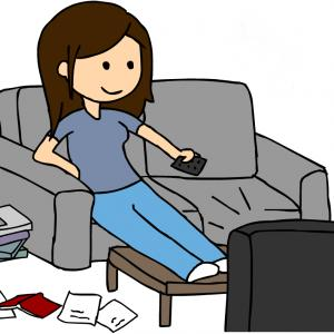 Girl watching tv clipart vector library stock Woman Watching Tv Clipart | Free download best Woman Watching Tv ... vector library stock