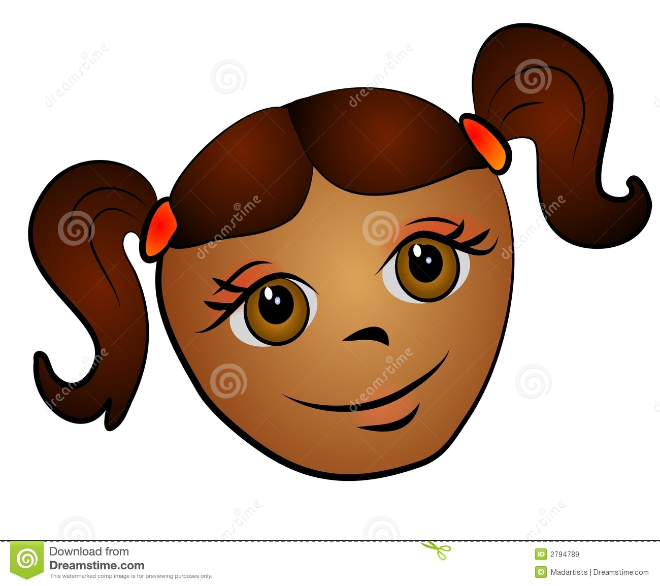 Girl with big eyes clipart clip art freeuse Girl with big eyes clipart - ClipartFest clip art freeuse