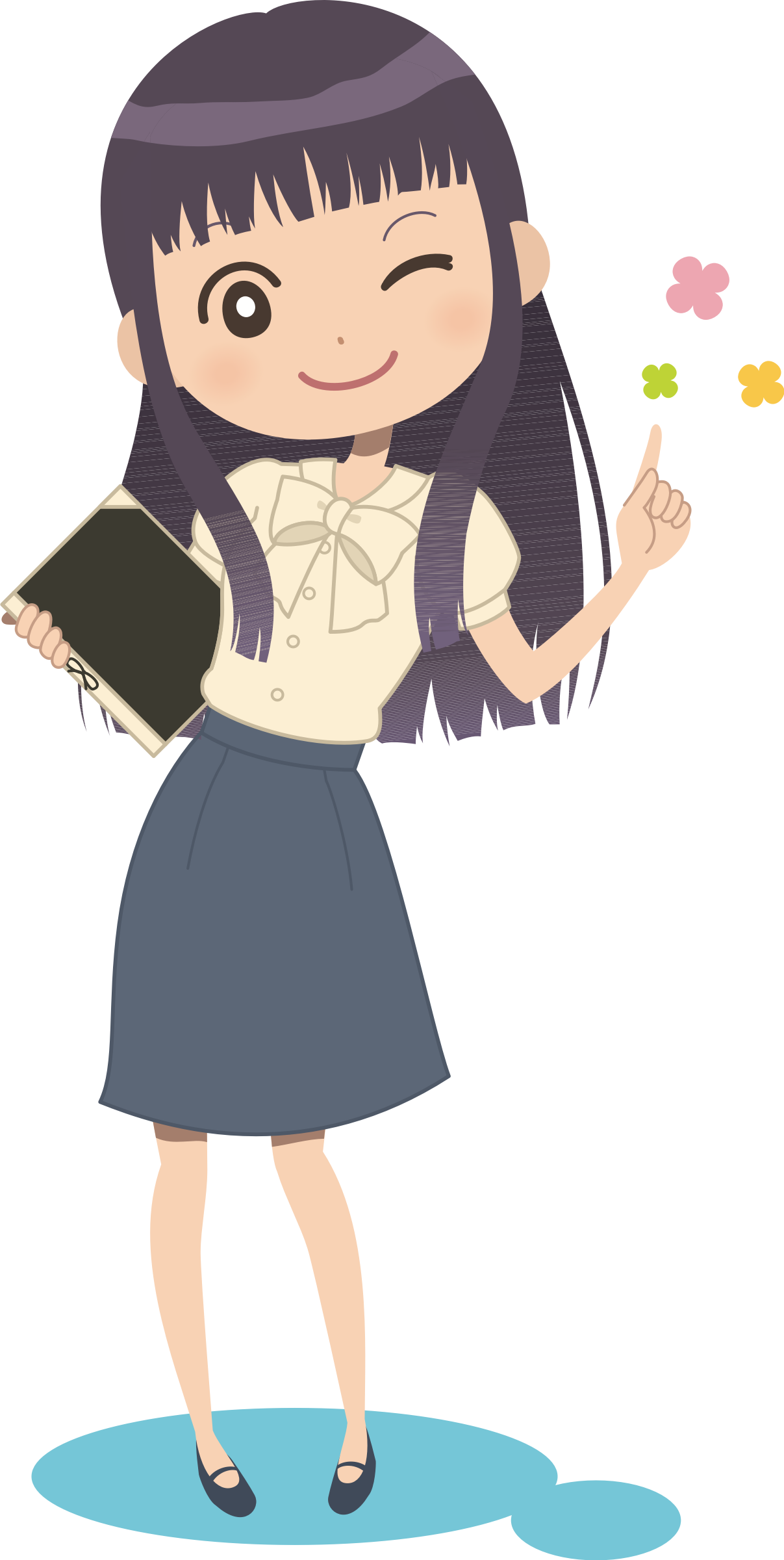 Girl with book clipart public domain picture transparent stock Clipart - Winking Girl with Book picture transparent stock