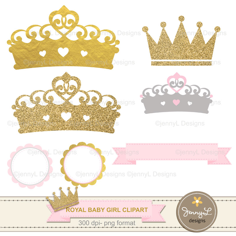 Girl with crown clipart clip free Gold Crown Digital papers and Crown Clipart, Royal Princess Girl Baby  Shower, Birthday Blue Birth Announcement, Scrapbooking Paper Party Theme clip free