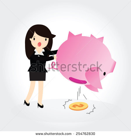 Girl with empty piggy bank clipart banner library Empty Piggy Bank Stock Photos, Royalty-Free Images & Vectors ... banner library