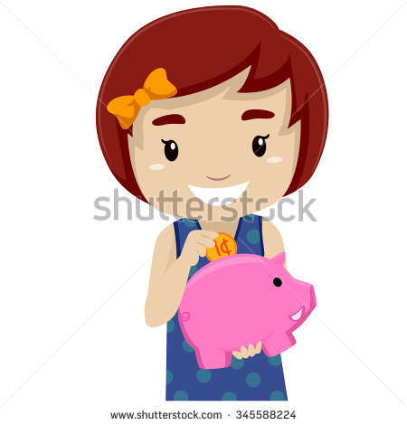 Girl with empty piggy bank clipart jpg Happy Piggy Bank Stock Vectors, Images & Vector Art | Shutterstock jpg