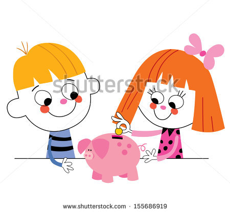 Girl with empty piggy bank clipart clipart black and white Thrift Box Stock Photos, Royalty-Free Images & Vectors - Shutterstock clipart black and white