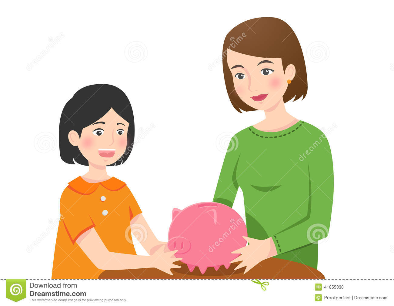 Girl with empty piggy bank clipart graphic free download Piggy bank clipart kids - ClipartFest graphic free download