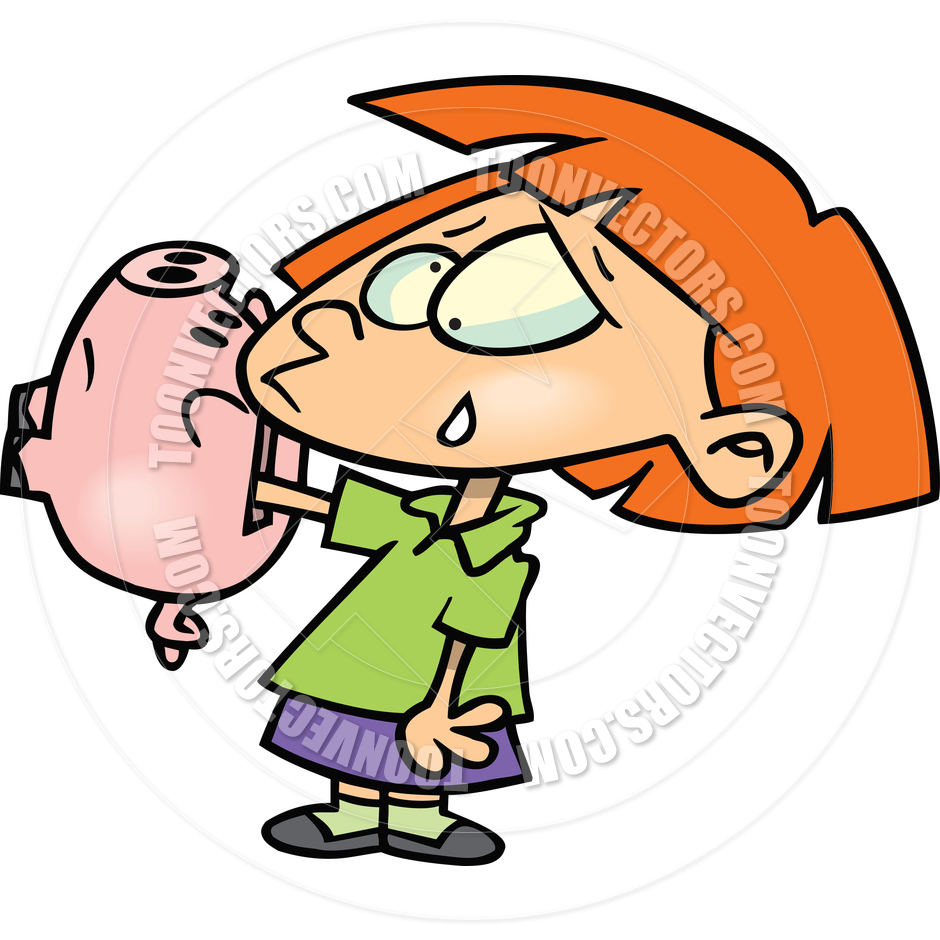 Girl with empty piggy bank clipart image free library Girl with empty piggy bank clipart - ClipartFox image free library