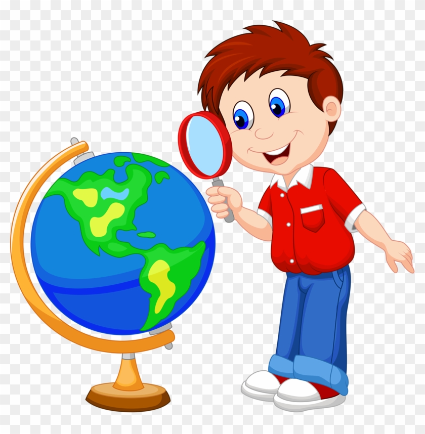 Girl with magnifying glass clipart graphic transparent download Globe Clipart Classroom - Girl With Magnifying Glass Clipart, HD Png ... graphic transparent download