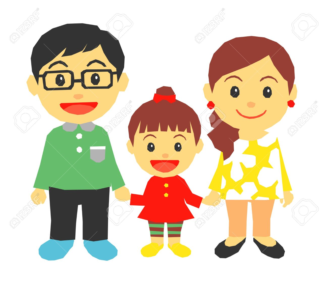 Girl with mom and dad clipart banner royalty free stock Mother And Father Clipart | Free download best Mother And Father ... banner royalty free stock