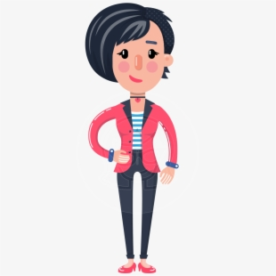 Girl with short black hair clipart svg library download Cartoon Girl With Short Hair Ultimate Pack - Female Cartoon ... svg library download