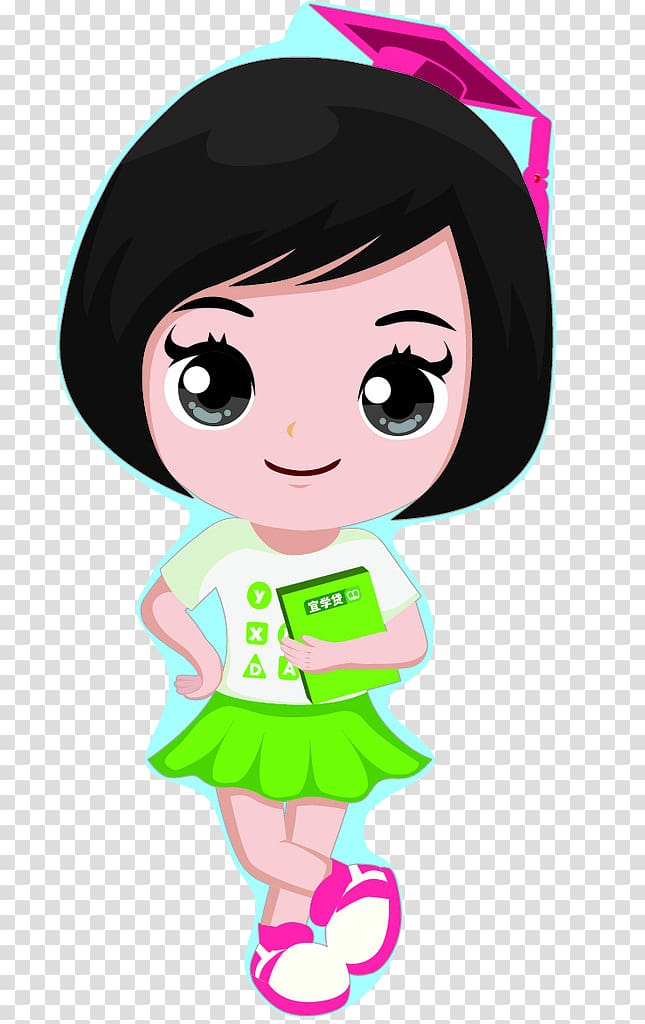 Short hair girl clipart svg library download Cartoon Illustration, Girls with short hair transparent background ... svg library download