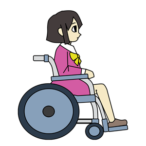 Girl with snapback hat clipart clipart royalty free library Download Free png Wheelchair Girl Colour clipart, cliparts of ... clipart royalty free library