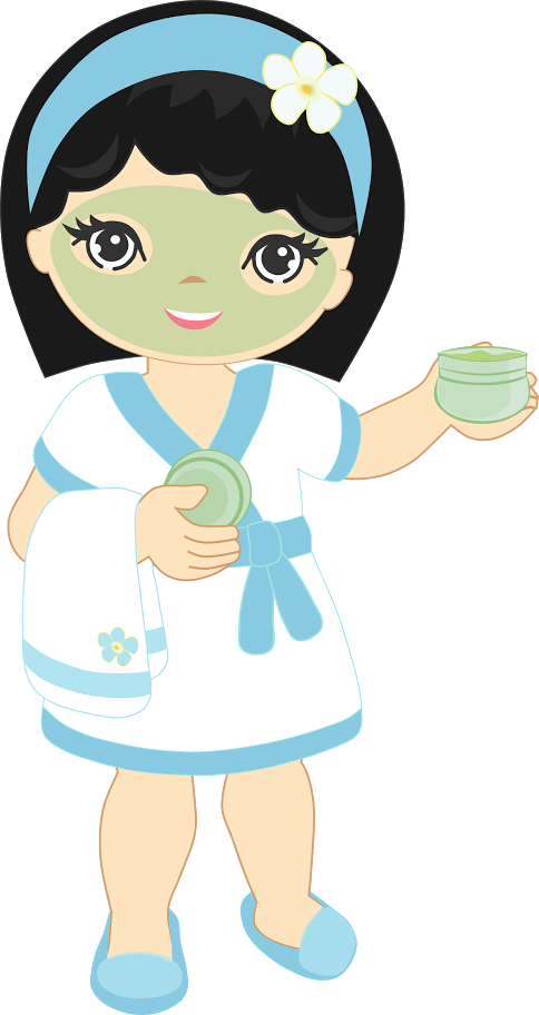 Girl with thumbs up clipart png library Pin by Tânia Lobo Carvalho on V3 | Pinterest | Spa, Spa party and ... png library
