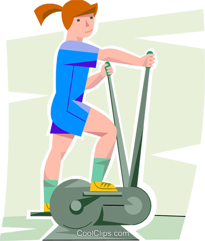 Girl working out clipart picture transparent download girl working out on a elliptical trainer Royalty Free Vector Clip ... picture transparent download