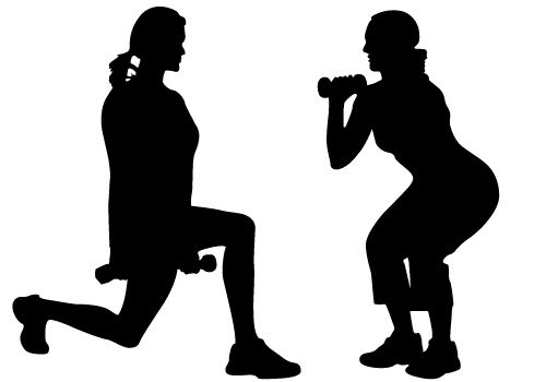 Girl working out clipart clip art black and white download Free Women Exercise Cliparts, Download Free Clip Art, Free Clip Art ... clip art black and white download