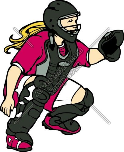 Girlcatcher clipart png library library Softball catcher | clipart | Softball catcher, Softball quotes ... png library library