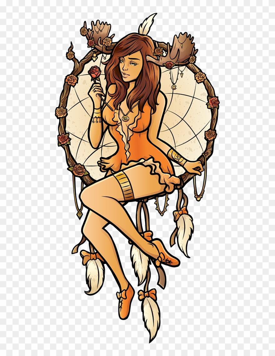 Girlcatcher clipart jpg library stock dreamcatcher Girl\