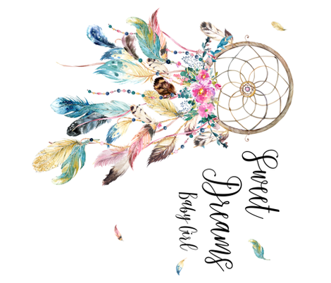 Girlcatcher clipart clip library Sweet Dreams Baby Girl / Bohemian Dreams Dream Catcher fabric by ... clip library
