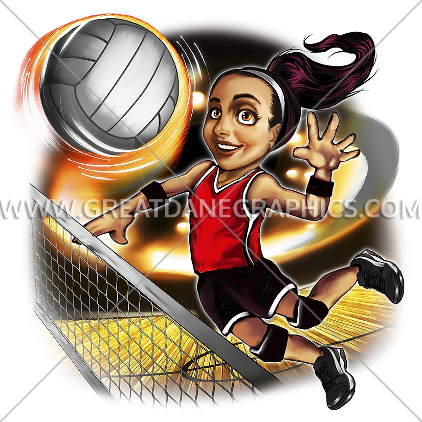 Girls basketball lay up clipart picture library Girl Spike | Production Ready Artwork for T-Shirt Printing picture library