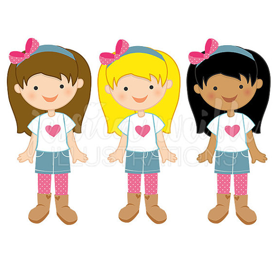 Girls cliparts image black and white library Girls clipart free download on WebStockReview image black and white library