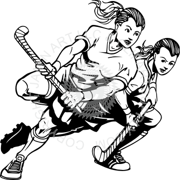 Girls field hockey clipart clip download Girl Field Hockey Players clip download