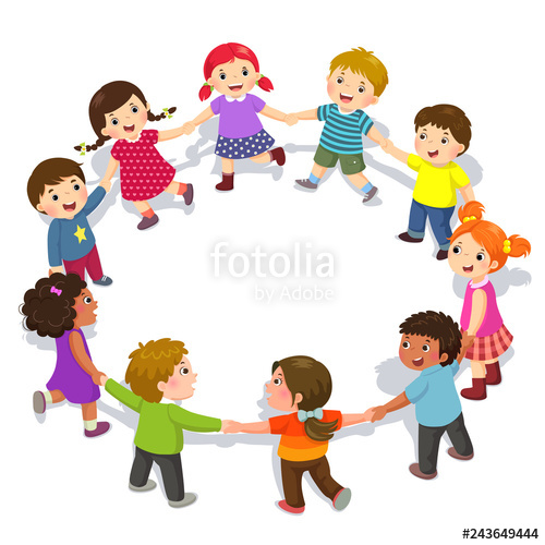 Girls having fun clipart png freeuse stock Happy kids holding hands in a circle. Cute boys and girls having fun ... png freeuse stock