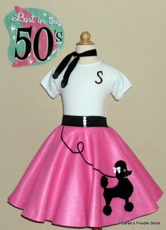Girls in poodle skirts and rollerskates clipart picture free library Sock Hop Outfit... I like the stripe shirt with the poodle skirt ... picture free library