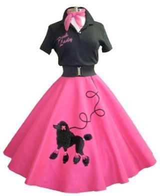 Girls in poodle skirts and rollerskates clipart vector library stock Poodle skirts—the origin and influence | Halloween in 2019 | Fashion ... vector library stock