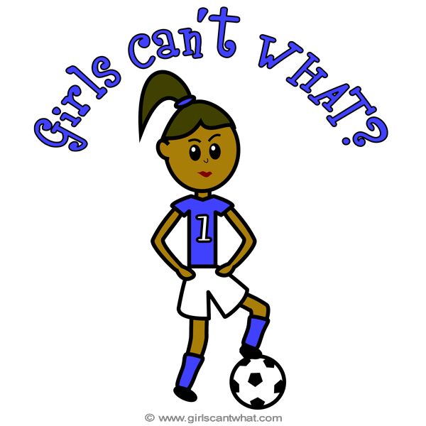 Girls playing football clipart clip freeuse Gifts By Personality | Girls Can't WHAT? clip freeuse