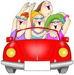 Girls road trip clipart graphic black and white Girls Road Trip Clipart graphic black and white