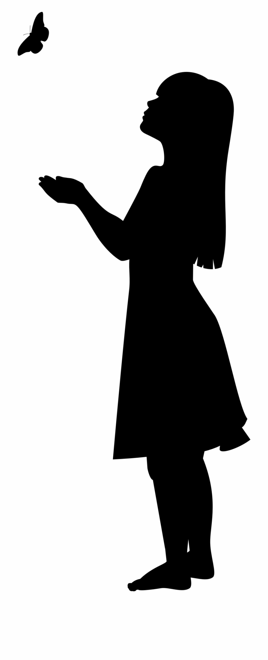 Girls silhouette clipart black and white Clipart Silhouette Of Little Girl Clipart - Little Girl Silhouette ... black and white