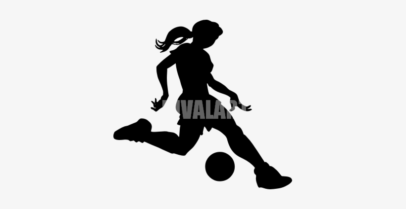 Girls soccer clipart transparent banner royalty free download Soccer Clipart Silhouette - Girls Soccer Wall Sticker - Free ... banner royalty free download