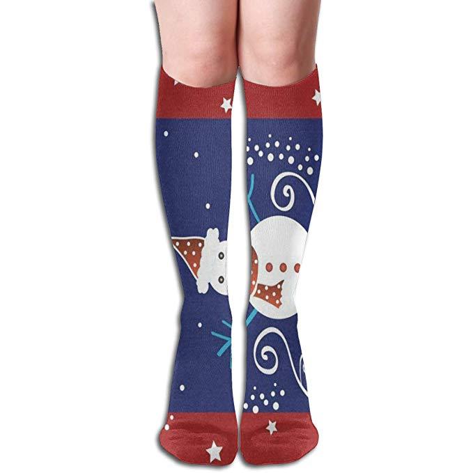Girls socks clipart cute clip art free Amazon.com: Socks Christmas Snowman And Stars Customized Womens ... clip art free