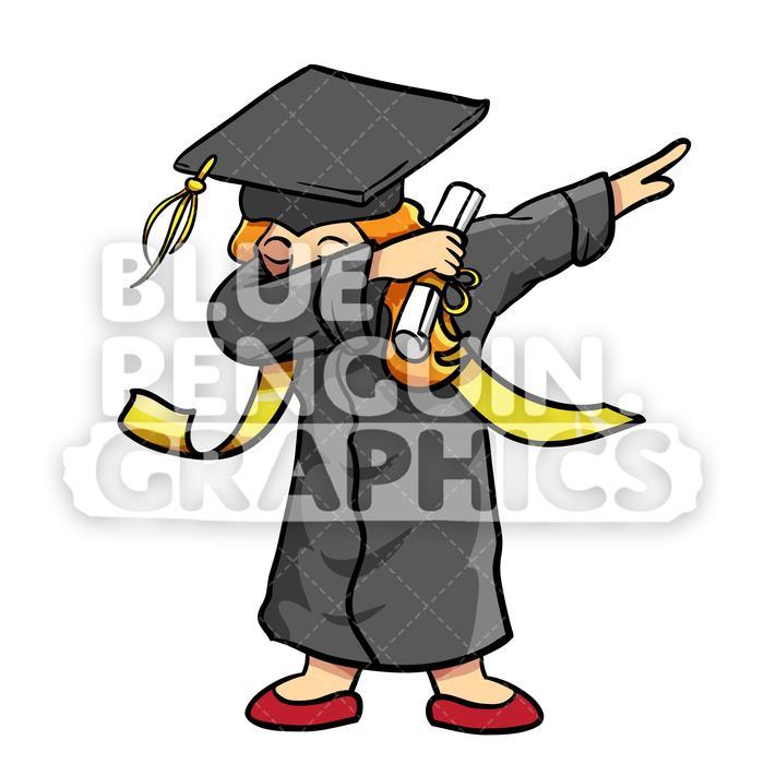 Girls vector clipart royalty free download Graduate Dabbing Girl Vector Cartoon Clipart Illustration royalty free download