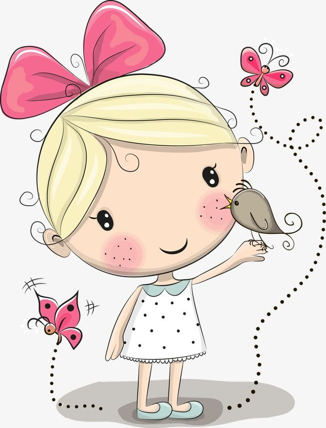 Girls vector clipart jpg free stock Vector Little Girl, Little Girl, Vector, Little Vector PNG ... jpg free stock