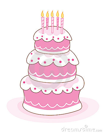 Girly birthday cake clipart vector transparent Girly birthday cake clipart - ClipartFest vector transparent