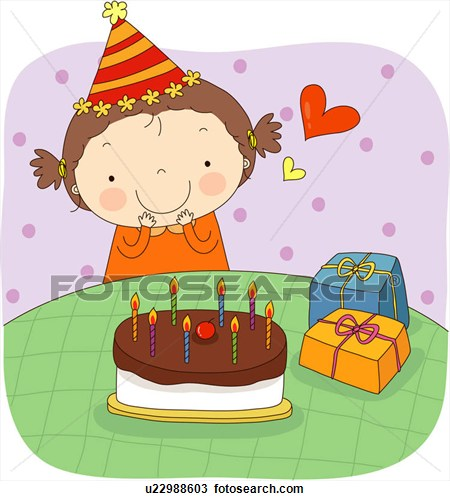 Girly birthday cake clipart svg transparent stock Girl with birthday cake clipart - ClipartFest svg transparent stock